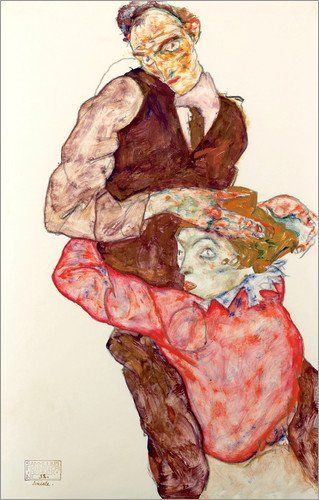 Poster 70 x 110 cm: Lovers di Egon Schiele - stampa artistica professionale, nuovo poster artistico: Egon Schiele: Amazon.it: Casa e cucina