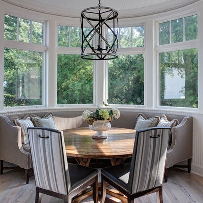 17 best bow windows images on pinterest bow windows for Sunroom breakfast nook