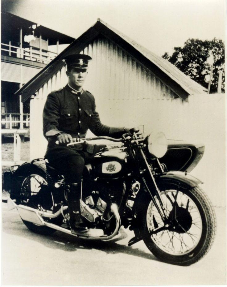 1936 AJS V Twin 1000cc police motorcycle Queensland Australia *