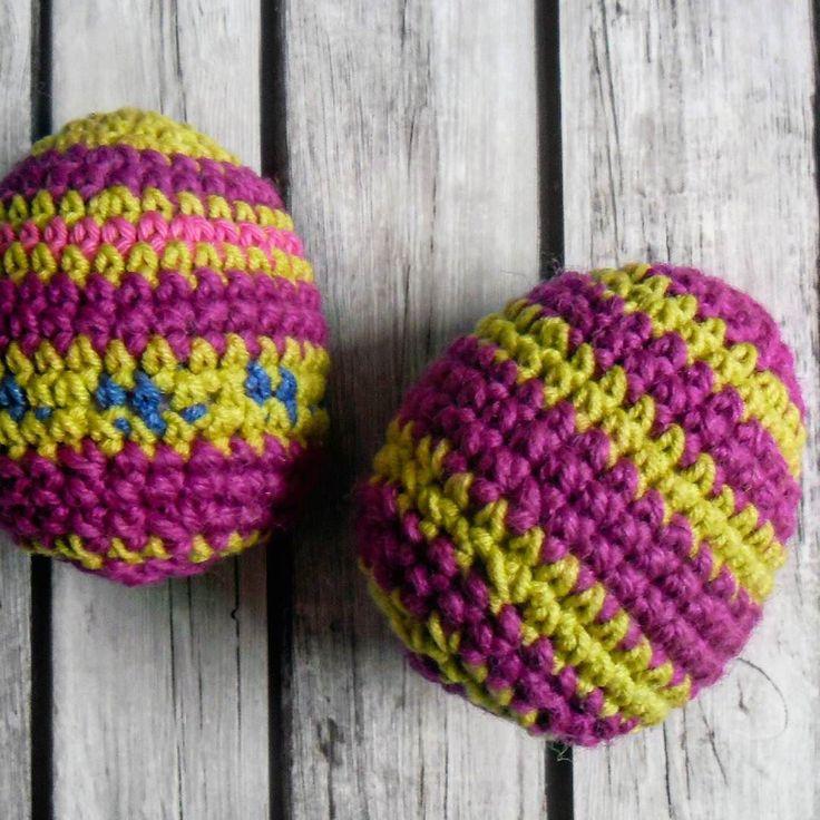 #crochet #egg #egs #easteregs #easter #wielkanoc #stripes #GawraStefana