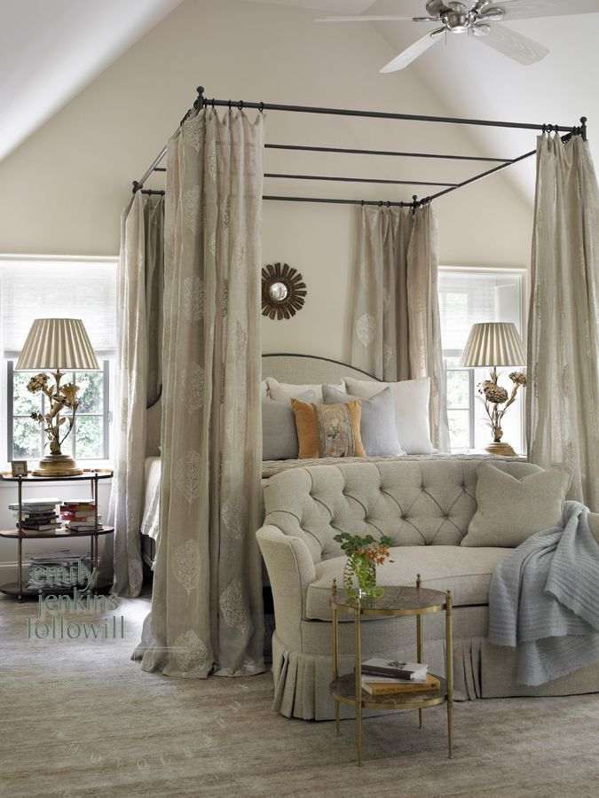 canopy bed against the - photo #17