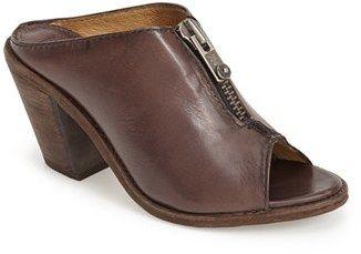 $257, Dark Brown Leather Mules: Frye Izzy Peep Toe Leather Mule. Sold by Nordstrom.