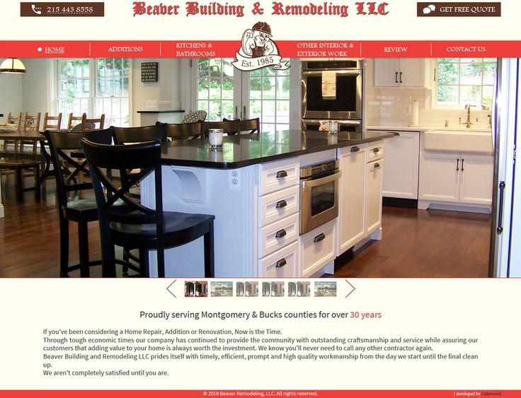 """Дизайн сайта для """"Beaver Building and Remodeling LLC"""" (США), занимающейся проектированием и строительством частных домов и интерьеров   Студия веб-дизайна Cakewood #site #design #cakewood"""