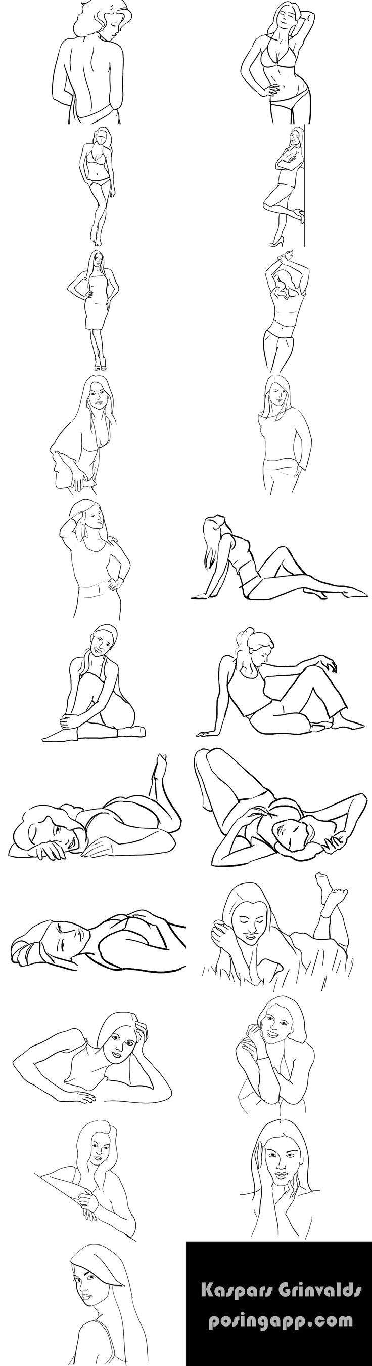 female posing ideas...
