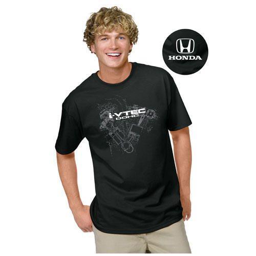 Men's i-VTEC® Custom t-shirt. 10.1 oz., 100% cotton t-shirt. Graphic screened on front with Honda logo screened on back yoke.