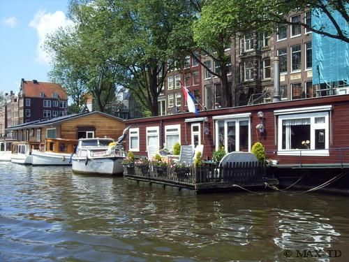 Hausboote in Amsterdam, Amsterdam, Hausboot, Niederlande, Netherlande