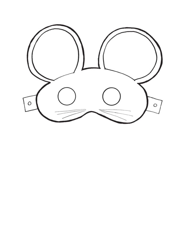 Printable mouse masks masks and costumes pinterest for Printable mouse mask template