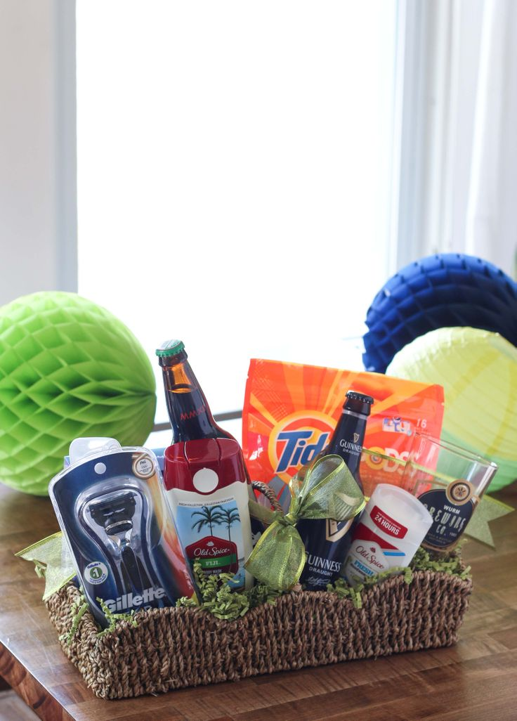 Best 25 guy gift baskets ideas on pinterest boyfriend gift a gift basket for the hard to buy for guy in your life solutioingenieria Choice Image