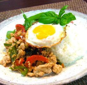 タイ風鶏肉のバジル炒め