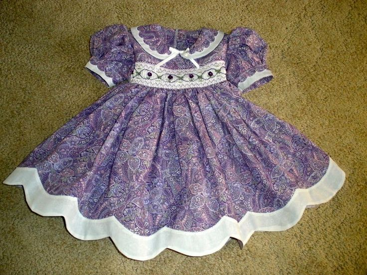 Toddler Girl Smocked Easter Dresses | You have to see Smocked Easter Dress by sewnsew!