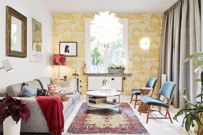 Bilder, Vardagsrum, Tapet, Soffa - Hemnet Inspiration