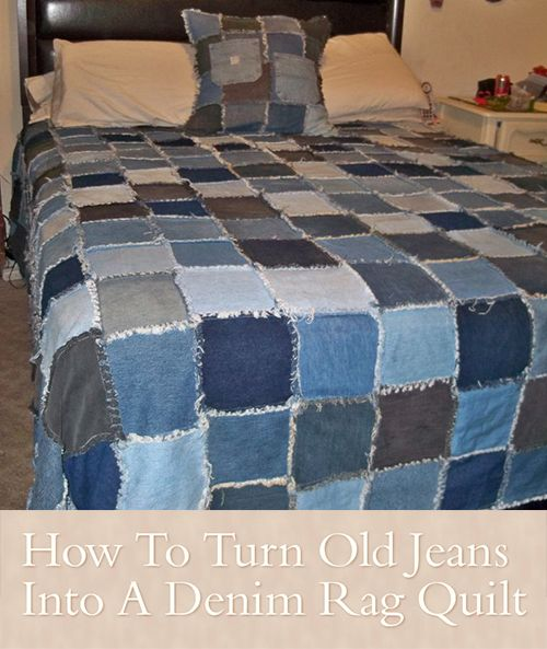 How To Turn Old Jeans Into A Denim Rag Quilt This step by step tutorial of How To Make A Blue Jean Denim Rag Quilt is an amazing way to re purpose and re u