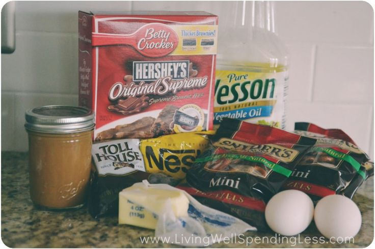 Salted Caramel Pretzel Crust Brownies | The Best Brownie Recipe Ever