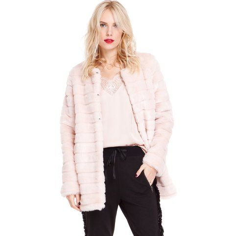 Manteau court aspect fourrure femme 3 Suisses Collection - Rose pale- Vue 1