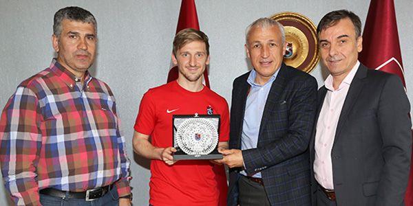 Trabzonspor'da plaketli veda