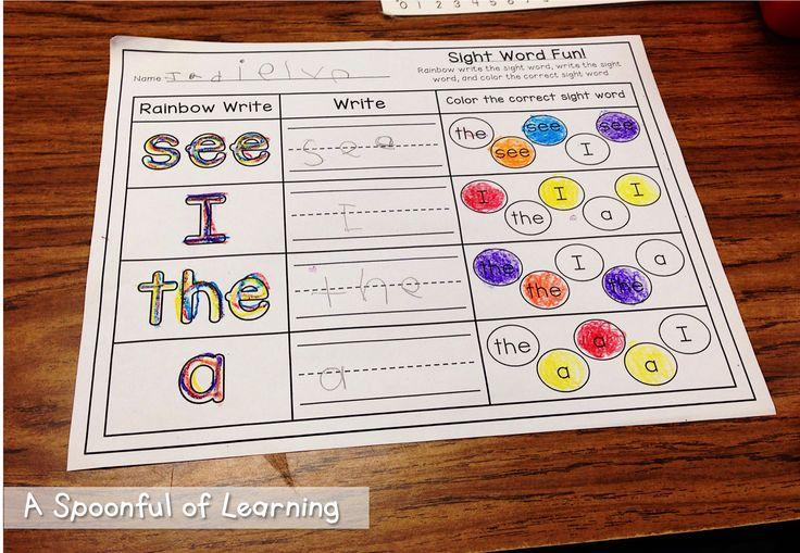 Favorite Stories: Goldilocks and the Three Bears- Word Work (Sight Word)
