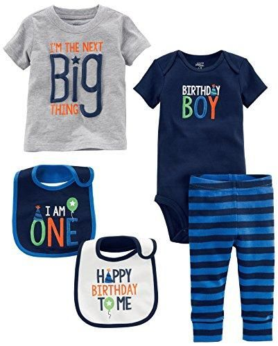 Simple Joys By Carters Boys 5 Piecemy 1st Birthday Set Blue Boy 12 Months