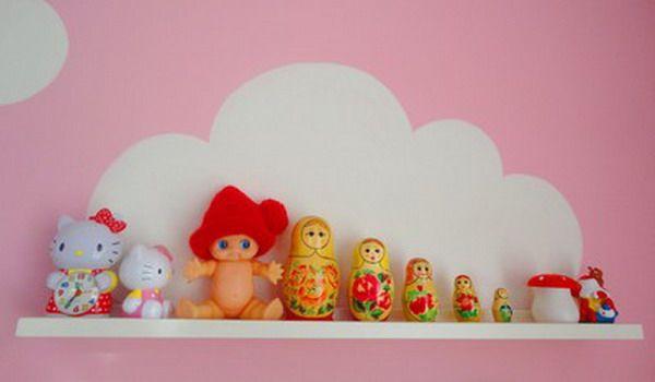 Σπίτι και κήπος διακόσμηση: Υπέροχα, δημιουργικά ράφια σύννεφο για το παιδικό