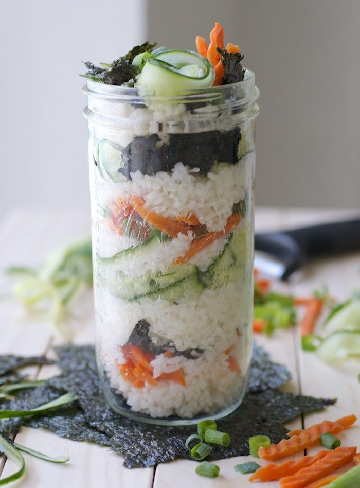 I hinted about a savory parfait in this post a few weeks back, and here it is: a Sushi Parfait. This was a lot of fun (and a little messy) to make. About halfway through layering everything into the jar, I realized I forgot the nori. The nori is a must! It gives the whole parfait...Read More →