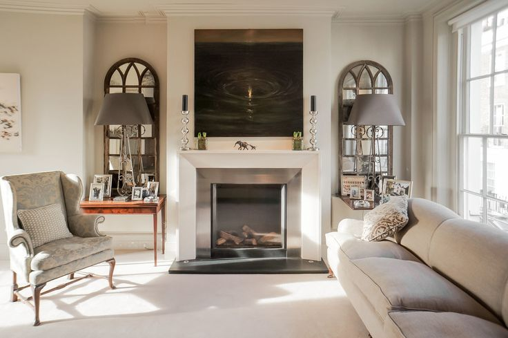 Craftsman fireplace surround living room transitional with metal fireplace surrouond tabletop picture frames