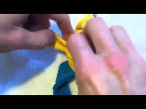 How to start a Toothbrush Rug - YouTube
