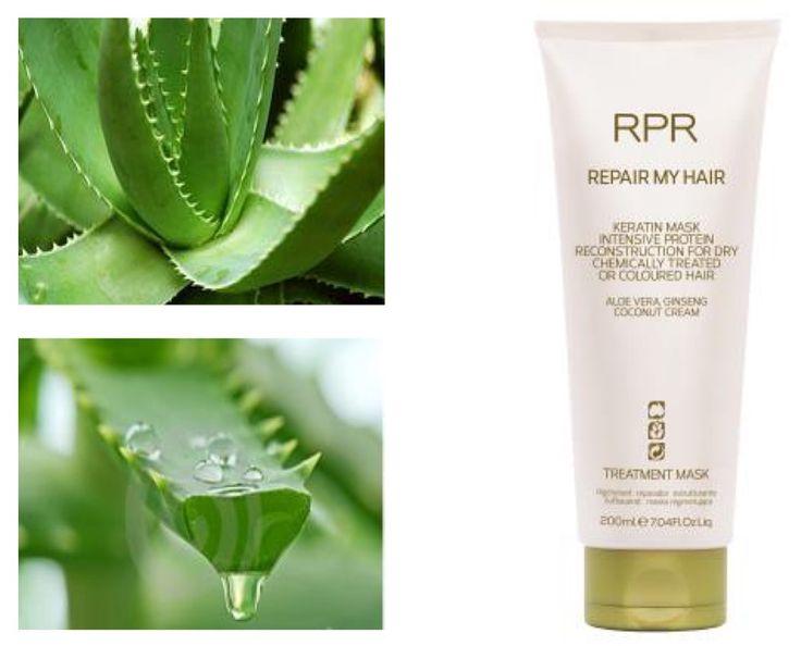 RPR REPAIR MY HAIR, KERATIN MASK. Intense protein reconstruction. Aloe Vera www.rprhaircare.com.au
