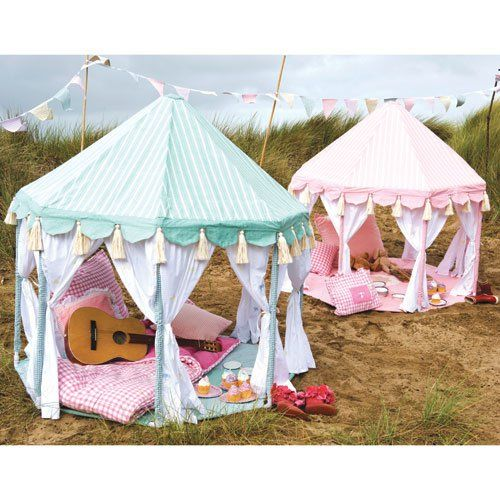 Daydreaming Tent - perhaps can be made with PVC pipes and Stripey fabric