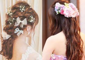 『三つ編みおさげ』で女の子らしく♡ナチュラルピュアな花嫁をつくるヘアアレンジ*