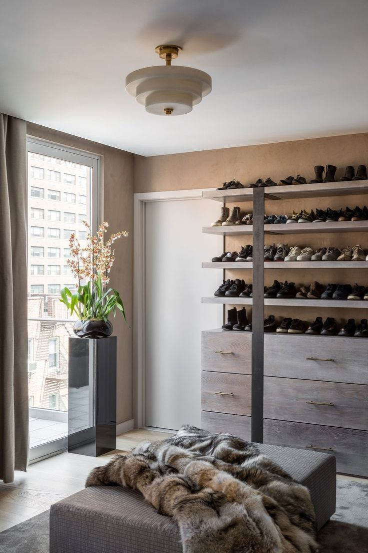 """""""I wanted the master closet to be completely custom without having the look of the typical custom closet company,"""" says Dedivanovic."""