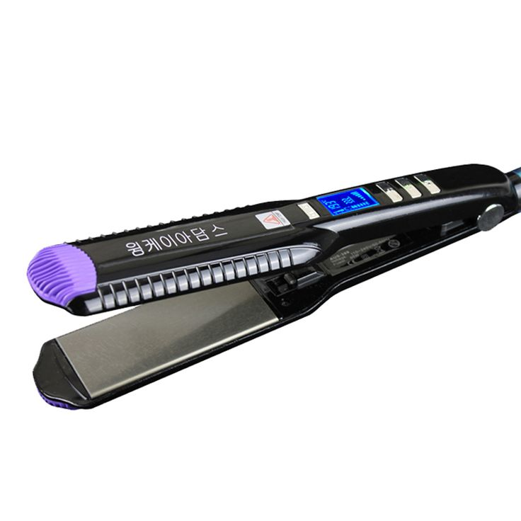 2017 New Professional Hair Straightener wide plates Flat Iron Straightening Irons LCD display planchas hair iron styling tools