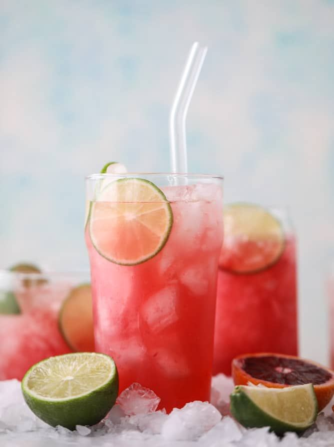 blood orange coolers I howsweeteats.com #bloodorange #mocktails #coconutwater #drinks