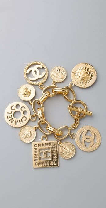 CHANEL Vintage Charm Bracelet http://shop.artisansilvergifts.com/collections/anniversary-gifts