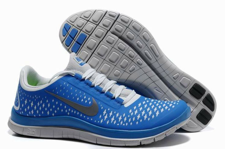 Nike Free 3,0 V4 Herren Schuhe Sale Blau / Weiß