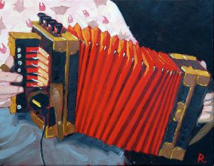 Accordion Painting - Cajun Accordion by Mark Rosenbohm