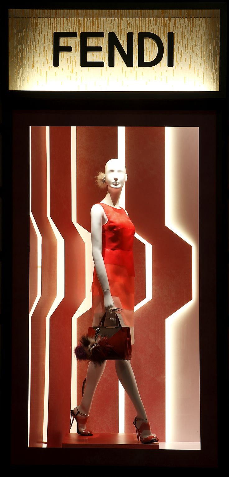 The new Spring/Summer 2014 Windows in the Fendi Milan store