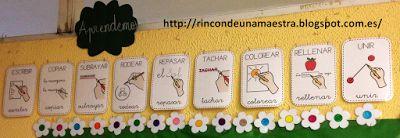 Rincón de una maestra: Pictogramas de acciones