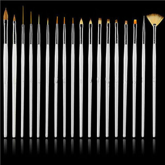 15pc Nail Art UV Gel Design Brush Set Painting Pen Polish Manicure Tips DIY Tool