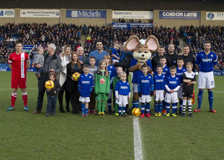 Sponsors and mascots before Chesterfield FC's match against Hartlepool 26th December 2013