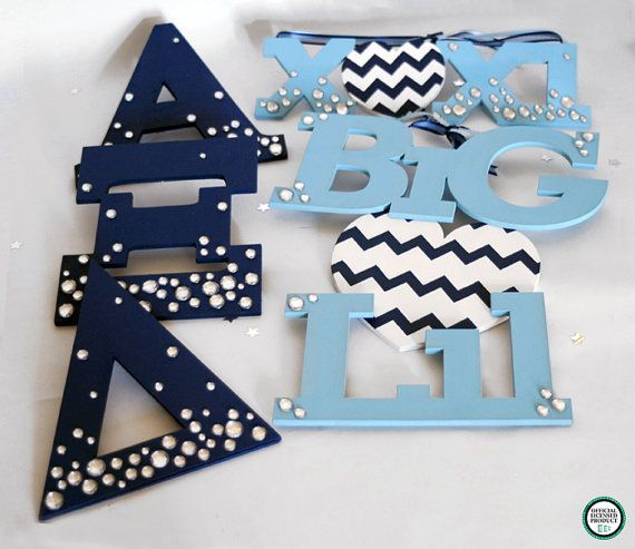 Display your letters proudly with this beautiful set of Alpha Xi Delta Greek letters, Big Heart Lil and xoxi. Artxidesigns