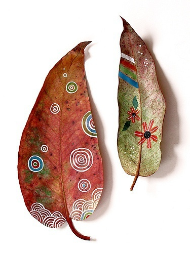 Incredible leaf art idea