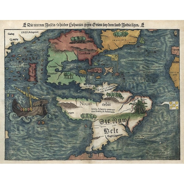 Historic map of the Americas originally published