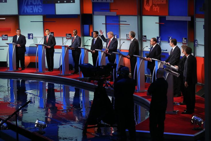 August 7, 2015 DOUG MILLS/THE NEW YORK TIMES The 10 highest-polling Republican presidential candidates took the stage Thursday in a Cleveland arena hours after the second-tier hopefuls finished their debate.