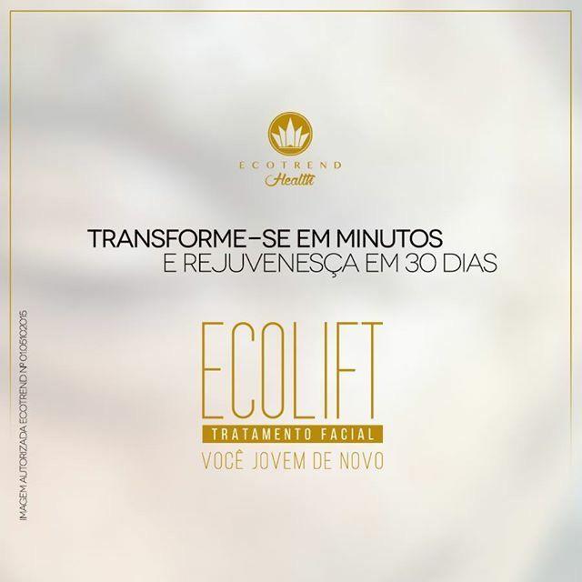 Ecolift é um tratamento facial de uso continuo da Ecotrend Health. Sua Formula com NANOSYN promove o efeito lifiting ( Efeito Tensor ).
