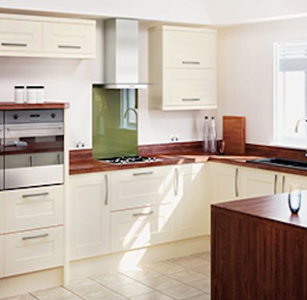 Homebase Hygena Palmaria Cream Shaker Kitchen. Kitchen-compare.com - Home - Independent Kitchen Price Comparisons