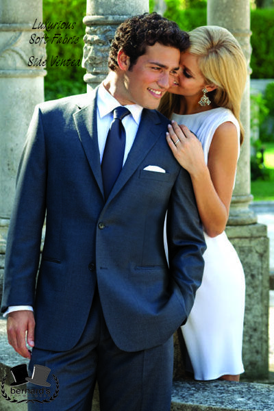 -the Madison 2 button #suit by Perry Ellis  -luxuriously soft Super 120's tone on tone fabric  -side vents  www.bernardsformalwear.com