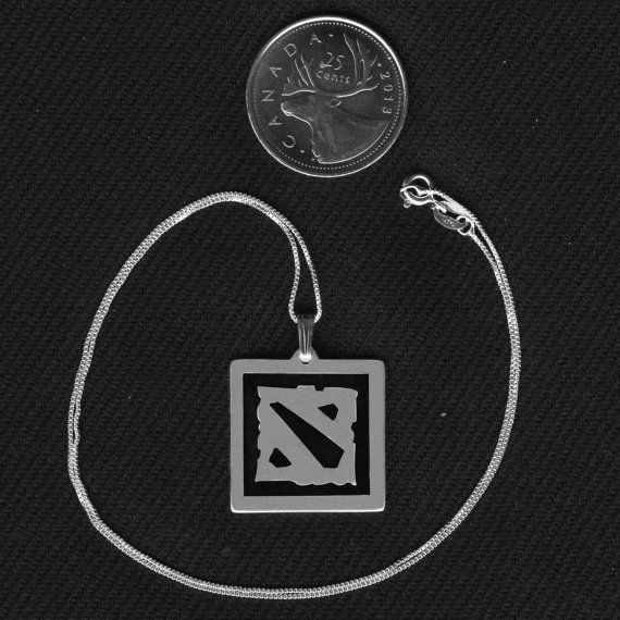 Sterling Silver Dota 2 Necklace. On Etsy for $42.