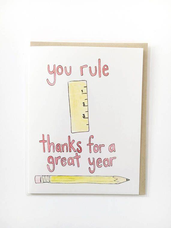 teacher appreciation card thank you teacher card end of