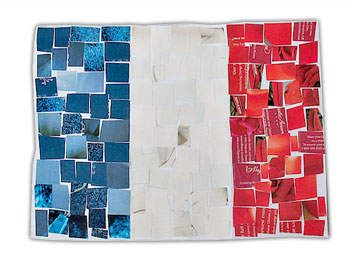 Olympics: mosaic flag for each country, have samples printed out with colors given. also a poster board of flags to see the finished products. could use stickers we already have, vinyl, tissue & construction paper