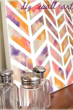 Chevron Wall Print | 17 Easy DIY Art Projects You Can Make With Watercolors