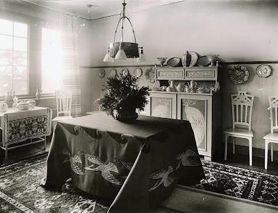The house 'Gärdsgården' in Stocksund, Stockholm,  designed by Ragnar Östberg, 1905.  The interior artist is Alf Wallander